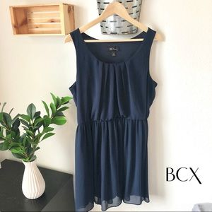 BCX Chiffon Navy Dress